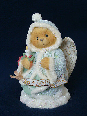 Cherished Teddies - Angela - Angel Holding Candle Figurine - 175986 - 1996