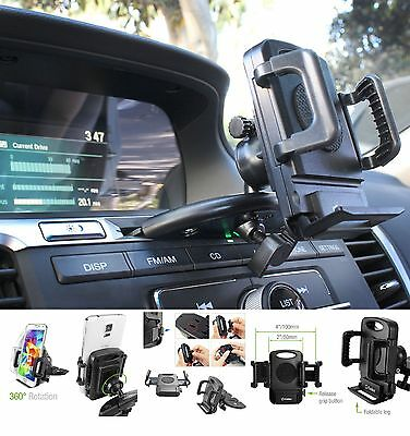 Car CD Player Slot Mount Cell Holder Stand For Apple iPhone 8 / iPhone 8 Plus