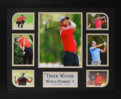 Tiger Woods Limited Edition Framed Signed Memorabilia