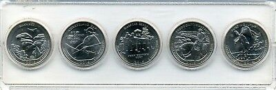 "2016 ""ATB"" NATIONAL PARK QUARTER 5-COIN SET P or D MINT BRILLIANT UNCIRCULATED"
