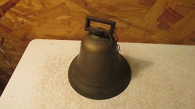 Antique Brass School Teachers Strap Bell