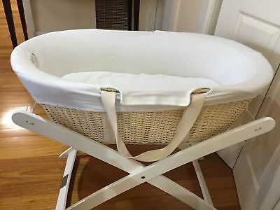 Baby Bassinet / Moses & Basket Stand White x 2