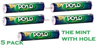 New Nestle Polo-The Mint With Hole- 5 Pack 31.20 Gm Each Sweet Candy Mint Flavor