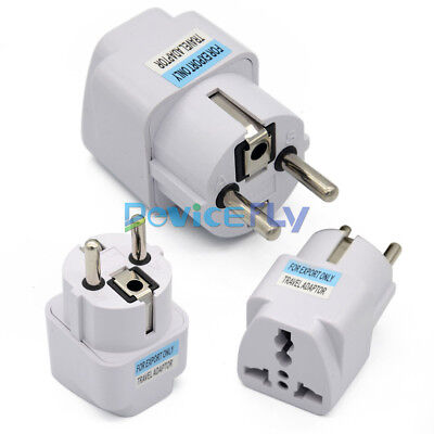 US UK AU To EU Power Converter Charger Adapter Home Wall Plug Travel Universal