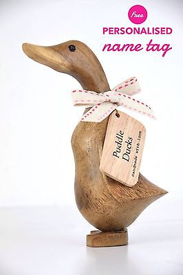 WOODEN DUCK -  Baby Duck / Duckling - Small - baby / childs Christening Gift