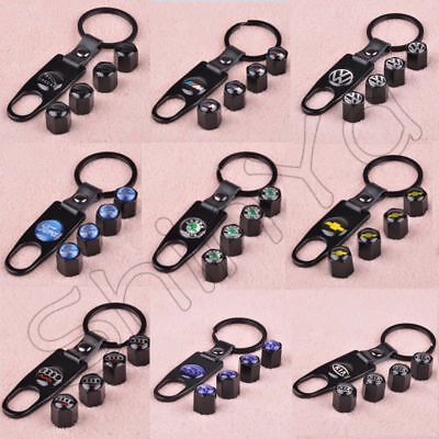 New Auto Valve Stem Car Wheel Tyre Tire Air Valve Caps Key Chain Spanner Keyring