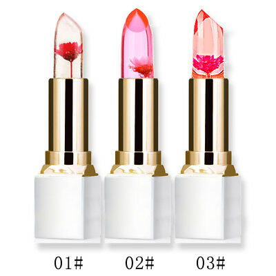 New Flower Jelly Gloss Lipstick Temperature Color Change Lip Balm Moisturizing