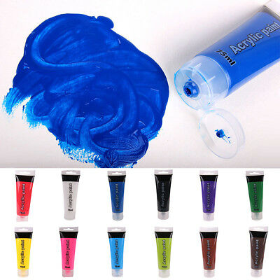 75ml Pro Tube Acrylic Paint Studio Nail Glass Wall Art Painting Artist Xmas Gift