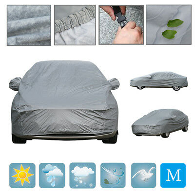 2 Layer Heavy Duty Waterproof  Car Cover Cotton Lining Scratch Proof Medium Size