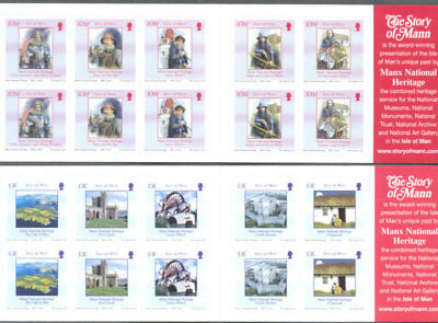 Isle of Man-Heritage set of 2 booklets mnh 2004