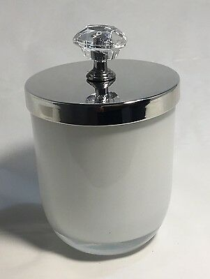 White Candle Jar With Silver Knob Lid (box of 12)
