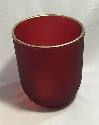 Red Candle Jar With Gold Trim (box of 12)