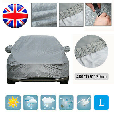 Large Full Car Cover Waterproof 2 Layer Cotton Heavy Duty Breathable UV Protect
