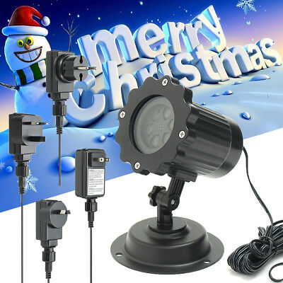 Party Xmas Outdoor Moving Snowflakes Laser Projector LED Light Lamp Lamp  AU