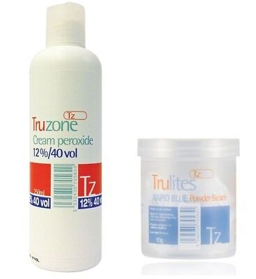 Truzone Cream Peroxide & Rapid Blue Powder Bleach For Hair Colouring/highlights