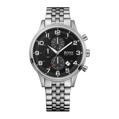 HUGO BOSS Aeroliner Gent's Stainless Steel Strap Chronograph Watch 1512446