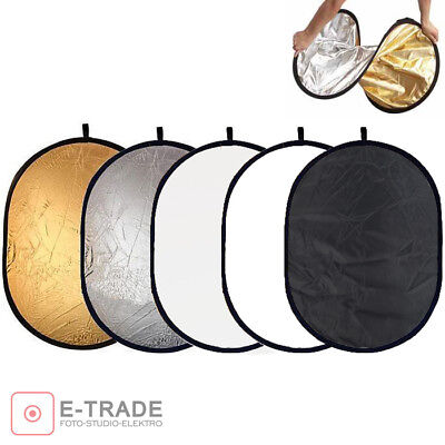 105x150cm - 5in1 Multi Photo Disc Collapsible Light Reflector Photography Studio