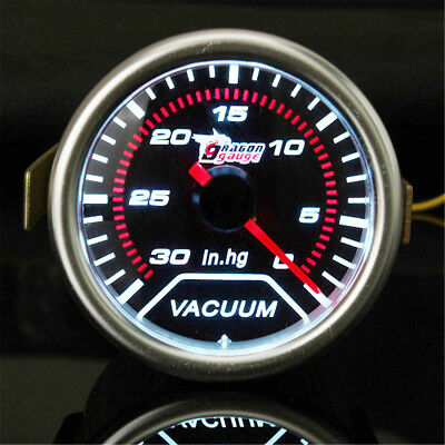 2'' 52MM UNIVERSAL CAR AUTO LED VACUUM GAUGE METER POINTER IN.HG Smoke Tint lens