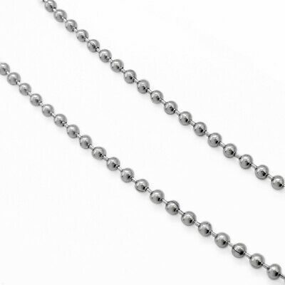 5m Stainless Steel 3mm Ball Chain - w/ 20 Connector Clasps