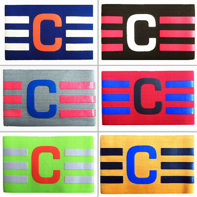 Football Captain Armband Soccer Skippers Armbands Rugby Sports Adjustable Games