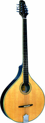 Ashbury AM-375 IRISH BOUZOUKI, Flat solid spruce top, solid maple body.