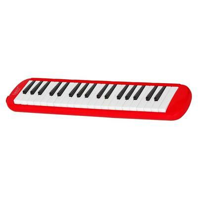 37 Keys Melodica Pianica Keyboard+Mouthpiece/Carrying Bag For Students Red