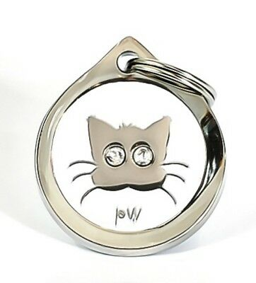 Best Quality Personalised PUSSYCAT DESIGN Pet Cat ID Collar Name Tags Discs