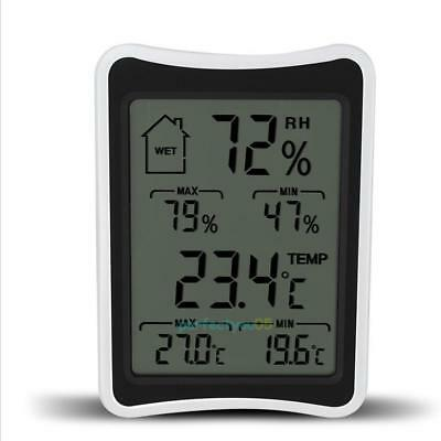 Digital LCD Room Indoor Outdoor Thermometer Hygrometer Humidity Wireless Monitor
