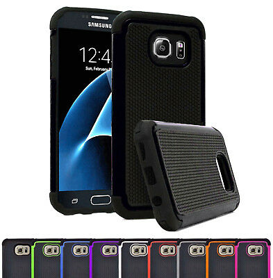Hybrid Hard Back Silicone Shockproof Case Cover for Samsung 6,7,7 Edge Note 3,4
