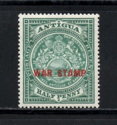 "(Ref-11512) Antigua 1917 Colony Seal  ""War Stamp"" 1/2d  SG53 Mint Hinged Sc-MR2"
