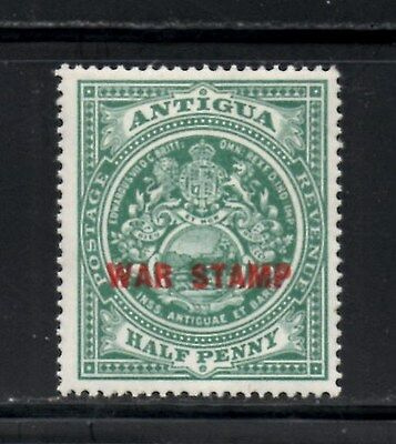 "(Ref-11513) Antigua 1917 Colony Seal  ""War Stamp"" 1/2d  SG53 Mint Hinged Sc-MR2"