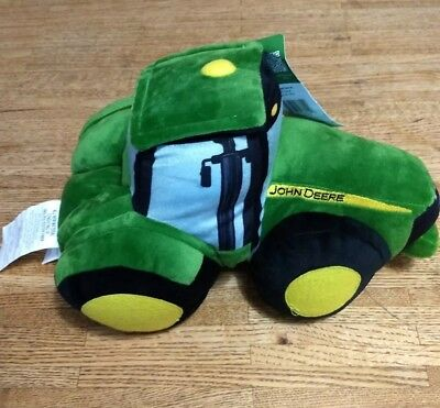 "John Deere Plush Tractor 14"" with Tags Pillow Toy"