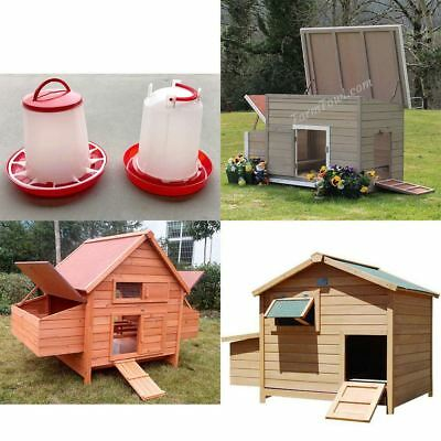 Chicken Coop Hen Chook House Ark w/Nesting box. Auto Feeder Waterer Rabbit Cat