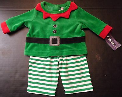 Elf Outfit Baby Christmas pants Unisex Newborn size Holiday 2 piece Green NWT