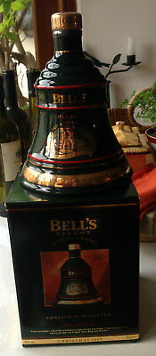 Bell's Bells Christmas 1993 Wade Decanter Full Sealed Boxed