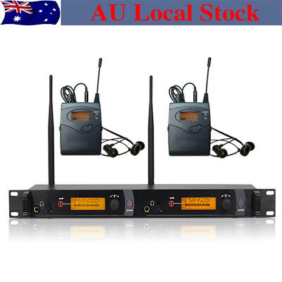 SR 2050 IEM 2 Channel UHF Wireless In Ear Stage Monitor System stage performance