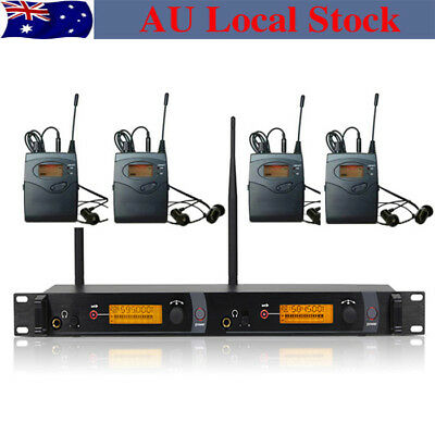 SR 2050 IEM SR 2000 2 Channels Wireless In Ear Stage Monitor System 4 receivers