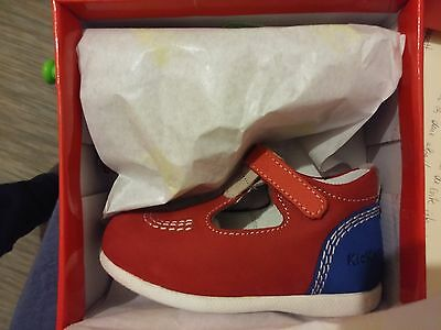 Kickers Babyfrench taille 23 mixte rouge (chaussures 100% neuves)