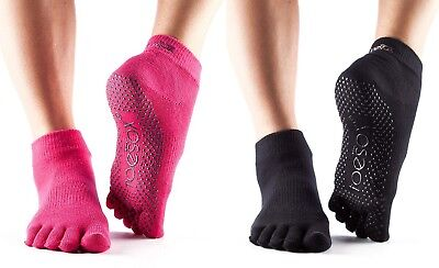 ToeSox FULL TOE ANKLE Grip Socks Non Slip for Pilates, Yoga, Dance, Martial Arts