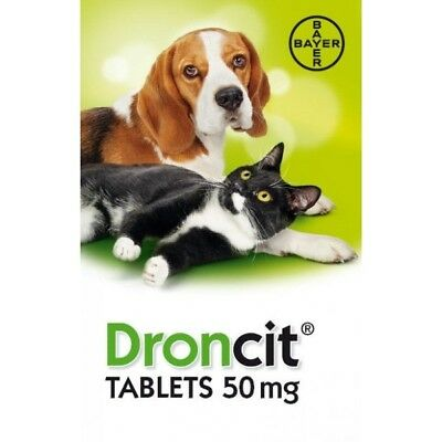 Droncit Tapeworm Worming Tablets (50mg Tablet - AVM-GSL For Use In Dogs & Cats).