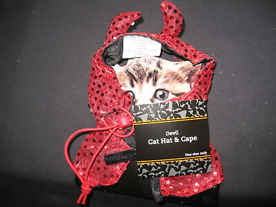 Devil Pet Cat Costume One Size fits All New with Tags !