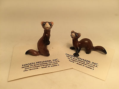 Hagen Renaker Ferrett Set of 2