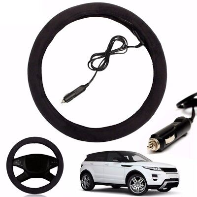 Heated Steering Wheel Cover 12V Auto Car Lighter Plug Electric Heating Warmer