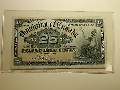 1900 Twenty-Five Cents The Dominion Bank Canada – VF+ Condition