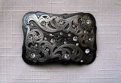 Western Style Belt Buckle With Rhinestones Womens