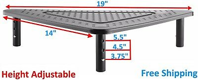 Desktop Monitor Riser Triangle LED LCD Computer Monitor Stand Ergonomic Design