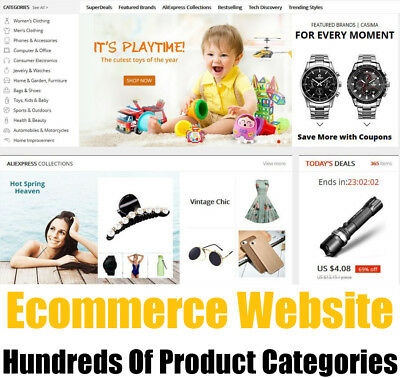 Website - Online eCommerce Store - 100 Million Goods - Home Business - For Sale