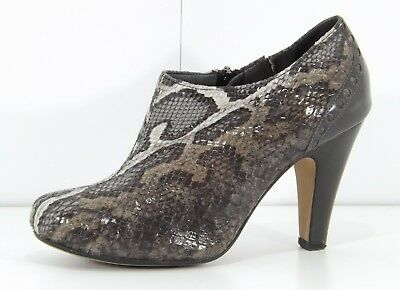 Clarks Grey Snakeskin Shoes