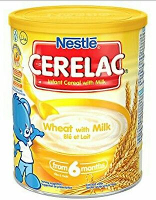Nestle Cerelac Wheat With Milk from 6 months 6 x 400g  CHEAPEST ON EBAY