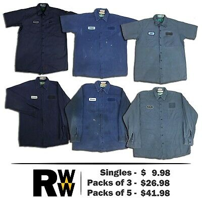 Red Kap Shirts Dark Colors Short Long Sleeve Cotton Work Uniform PACK STARTS $20